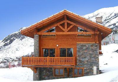 Location au ski Chalet Les Marmottes - Crintallia - Les Menuires - Extérieur hiver