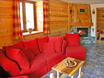 Location au ski Chalet Levassaix - Les Menuires - Canapé