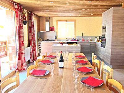 Location au ski Chalet 8 pièces 14 personnes (1510) - Chalet Perle Des Trois Vallees - Les Menuires - Salle à manger
