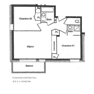 Skiverleih 3-Zimmer-Appartment für 4 Personen (A1) - Chalets du Doron - Les Menuires