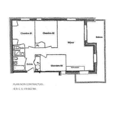Location au ski Appartement 4 pièces 6 personnes (B4) - Chalets du Doron - Les Menuires - Plan