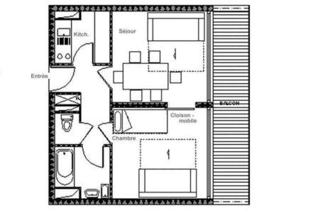 Location au ski Appartement 2 pièces 6 personnes (615) - La Résidence Aravis - Les Menuires