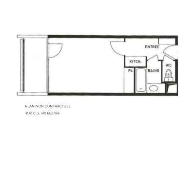 Location au ski Studio 4 personnes (316) - La Résidence Chavière - Les Menuires