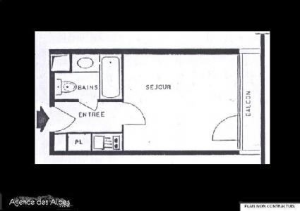 Location au ski Studio 2 personnes (531) - La Residence Chaviere - Les Menuires - Kitchenette