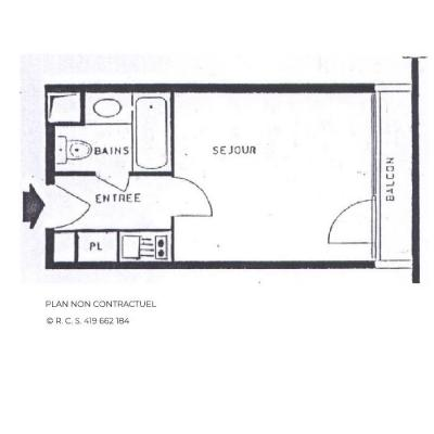 Location au ski Studio 2 personnes (631) - La Residence Chaviere - Les Menuires - Salle de bains