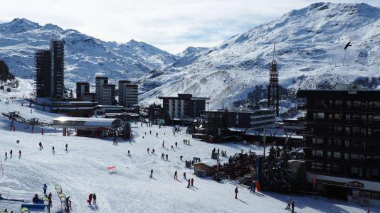 Vacances en montagne Studio 4 personnes (515) - La Résidence la Chavière - Les Menuires - Extérieur hiver