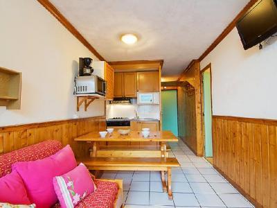 Rent in ski resort 2 room apartment 6 people (6) - Le Villaret - Les Menuires - Dining area