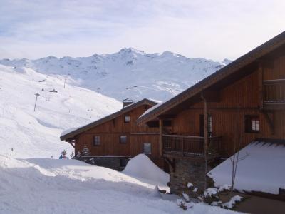 Location au ski Les Chalets Du Soleil Authentiques - Les Menuires - Extérieur hiver