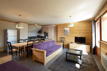 Location au ski Les Chalets Du Soleil Contemporains - Les Menuires - Coin séjour