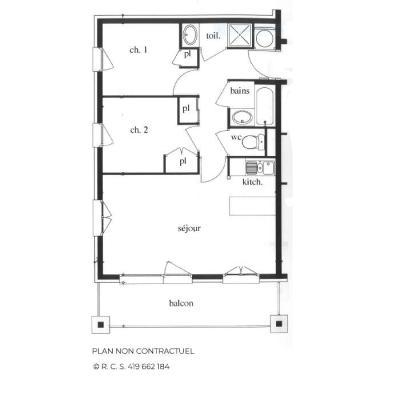 Location au ski Appartement 3 pièces 6 personnes (201) - Les Côtes d'Or Chalet Argentière - Les Menuires
