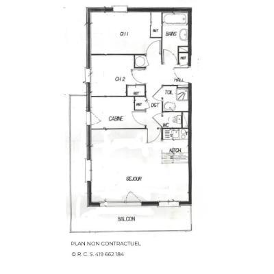 Location au ski Appartement 4 pièces 6-8 personnes (321) - Les Côtes d'Or Chalet Courmayeur - Les Menuires