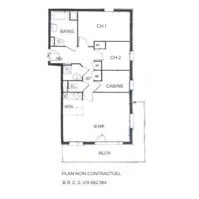 Location au ski Appartement 4 pièces 8 personnes (323) - Les Côtes d'Or Chalet Courmayeur - Les Menuires - Plan
