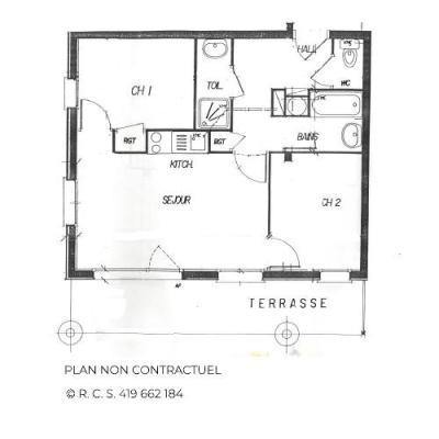 Location au ski Appartement 3 pièces cabine 4-6 personnes (301) - Les Cotes D'or Chalet Courmayeur - Les Menuires - Chambre mansardée