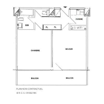 Location au ski Appartement 2 pièces 6 personnes (716) - Résidence Aravis - Les Menuires