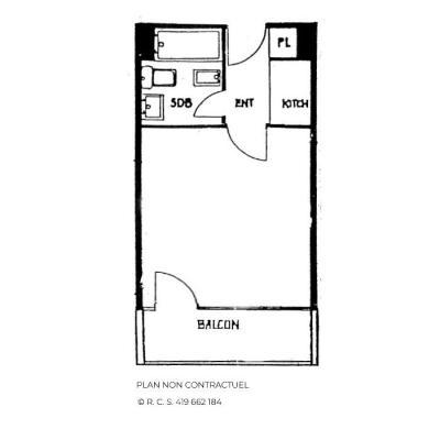 Location au ski Studio 3 personnes (207) - Résidence Aravis - Les Menuires - Plan
