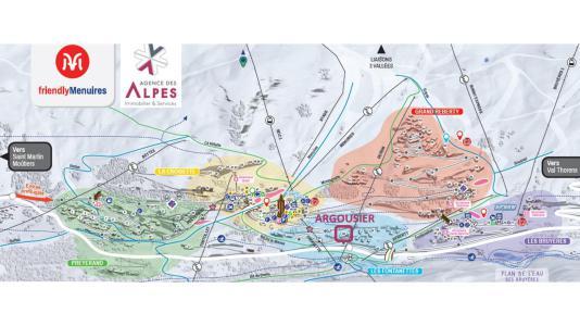 Vacances en montagne Résidence Argousier - Les Menuires - Extérieur hiver