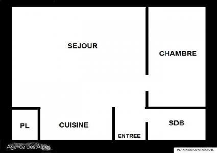 Location au ski Studio 4 personnes (24) - Residence Beaufortain - Les Menuires
