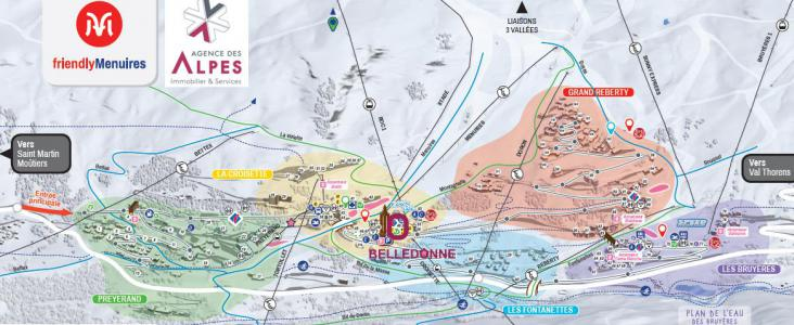 Location au ski Résidence Belledonne - Les Menuires - Plan