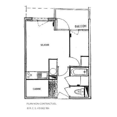 Location au ski Studio cabine 4 personnes - Résidence Carlines - Les Menuires