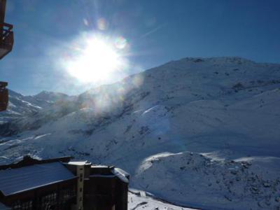 Location au ski Studio cabine 4 personnes (081) - Residence Carlines Ii - Les Menuires - Extérieur hiver