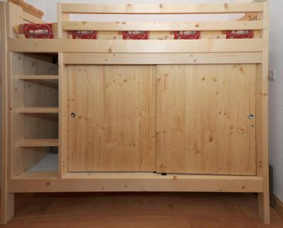 Location au ski Studio cabine 4 personnes (081) - Residence Carlines Ii - Les Menuires - Couchage