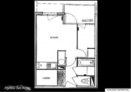 Location au ski Studio cabine 4 personnes - Residence Carlines - Les Menuires - Séjour