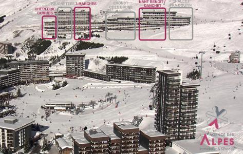 Location au ski Résidence Challe - Les Menuires - Extérieur hiver