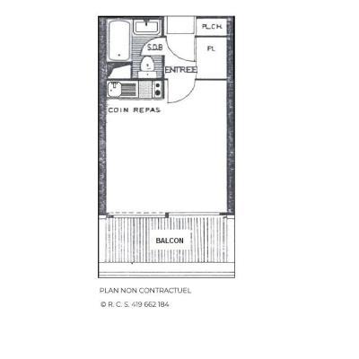 Location au ski Studio 3 personnes (810) - Résidence Combes - Les Menuires