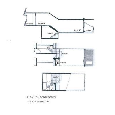 Location au ski Studio duplex 4 personnes (214) - Résidence Côte Brune - Les Menuires - Baignoire