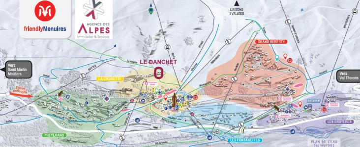 Location au ski Résidence Danchet - Les Menuires - Plan