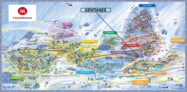 Location Les Menuires : Résidence Gentianes hiver