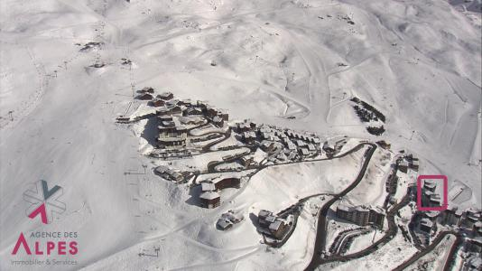 Location au ski Résidence l'Armoise - Les Menuires - Extérieur hiver