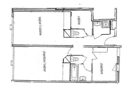 Rent in ski resort 3 room apartment 8 people (4344) - Résidence la Biellaz - Les Menuires - Plan