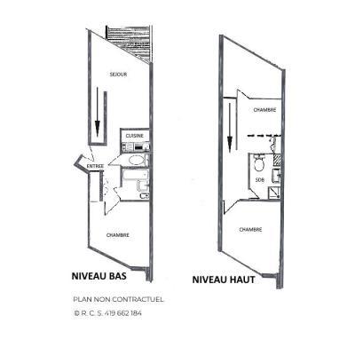 Location au ski Appartement 3 pièces mezzanine 8 personnes (1009) - Résidence la Grande Masse - Les Menuires - Salle d'eau