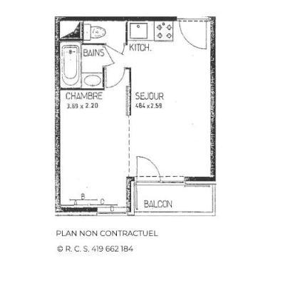 Location au ski Appartement 1 pièces 4 personnes (B77) - Résidence le Jettay - Les Menuires - Appartement