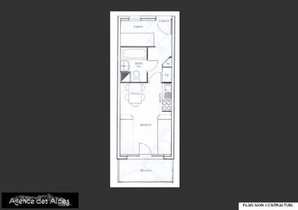 Location au ski Studio 4 personnes (820) - Residence Le Necou - Les Menuires - Plan
