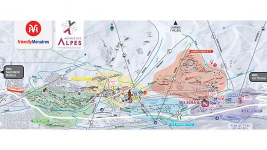 Location au ski Résidence le Ski Soleil - Les Menuires - Extérieur hiver