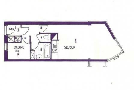 Location au ski Studio cabine 5 personnes (213) - Residence Le Sorbier - Les Menuires