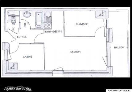 Location au ski Appartement 3 pièces 5 personnes (B33) - Residence Le Valmont - Les Menuires