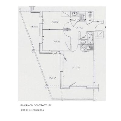 Location au ski Appartement 3 pièces 6 personnes (505) - Résidence le Valmont - Les Menuires - Plan