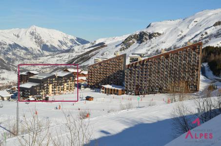 Location au ski Résidence le Villaret - Les Menuires - Extérieur hiver