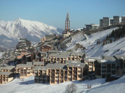 Location au ski Residence Les Asters B2 - Les Menuires - Extérieur hiver
