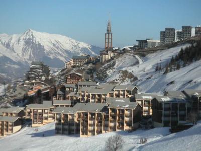 Location au ski Residence Les Asters - Les Menuires - Extérieur hiver