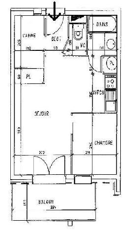 Location au ski Appartement 2 pièces cabine 6 personnes (110) - Residence Les Balcons D'olympie - Les Menuires