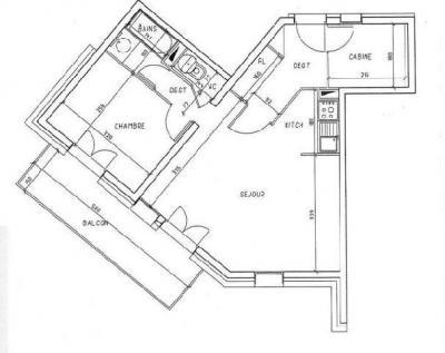 Location au ski Appartement 2 pièces 8 personnes (319) - Résidence les Balcons d'Olympie - Les Menuires - Plan