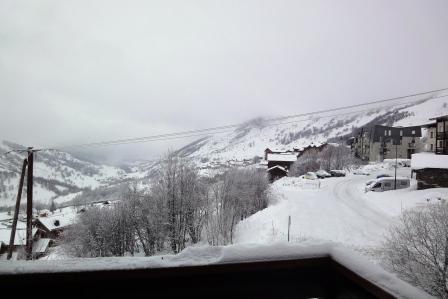 Vacances en montagne Studio cabine 4 personnes (301) - Résidence les Balcons d'Olympie - Les Menuires - Extérieur hiver
