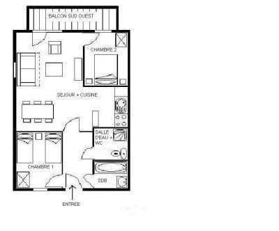 Location au ski Appartement 4 pièces 8 personnes (23) - Residence Les Cristaux - Les Menuires