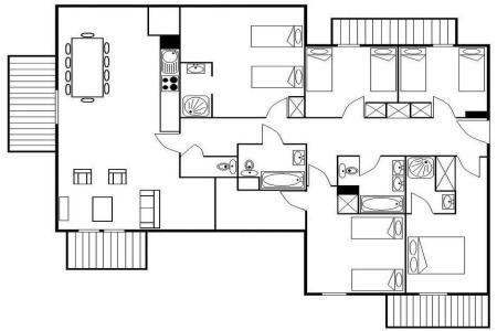 Soggiorno sugli sci Appartamento 6 stanze per 12 persone (27) - Résidence les Cristaux - Les Menuires