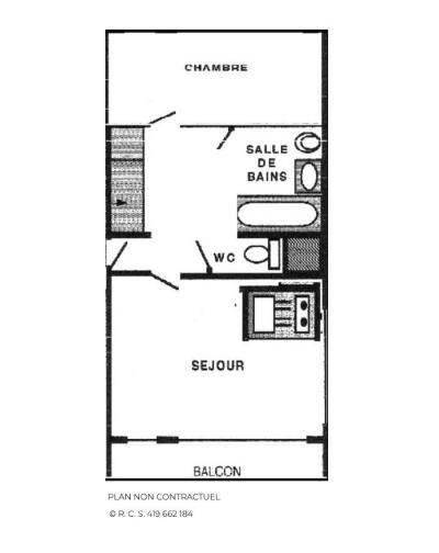 Location au ski Appartement 2 pièces 5 personnes (1205) - Résidence les Dorons - Les Menuires