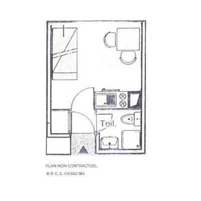 Location au ski Studio 2 personnes (1306) - Résidence les Dorons - Les Menuires